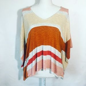 Anthropologie Dolan Striped Crop Top